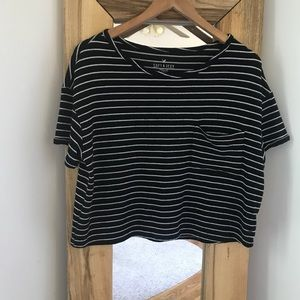 American Eagle Soft & Sexy Plush Cropped Tee L